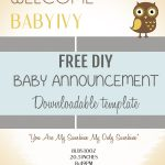 001 Free Birth Announcements Templates Template Ideas ~ Ulyssesroom   Free Birth Announcements Printable