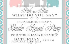 002 Gender Reveal Baby Shower Invitations And Invitation Template On – Free Printable Gender Reveal Templates