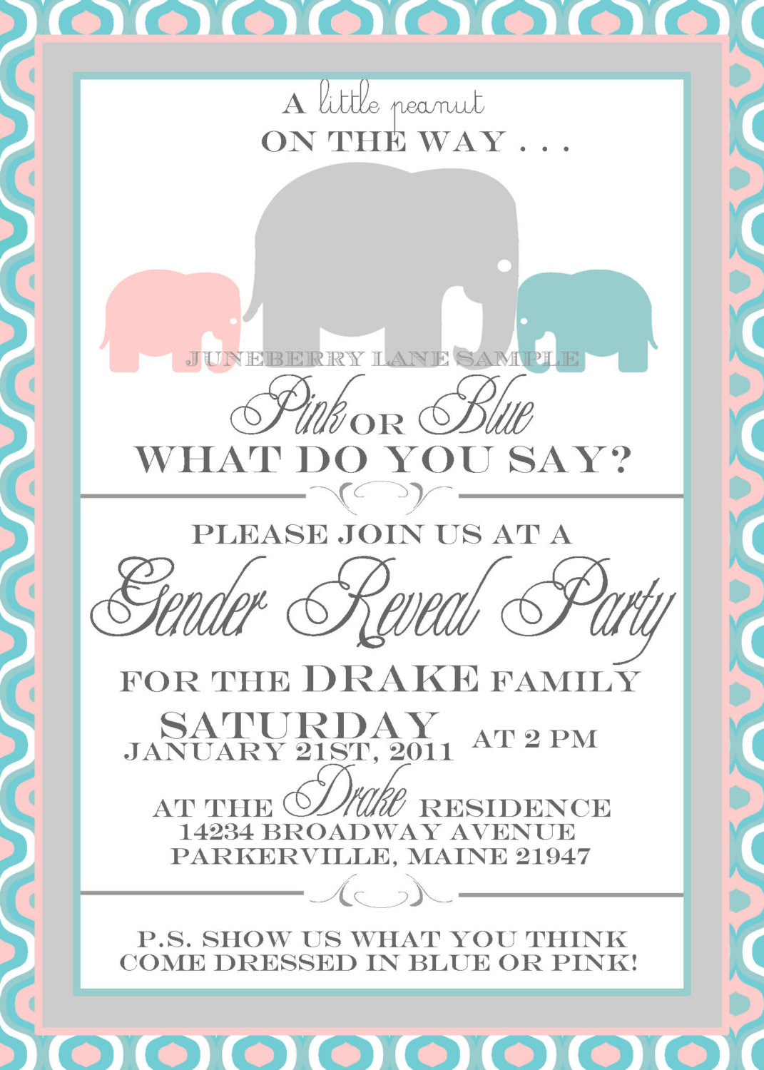 002 Gender Reveal Baby Shower Invitations And Invitation Template On - Free Printable Gender Reveal Templates