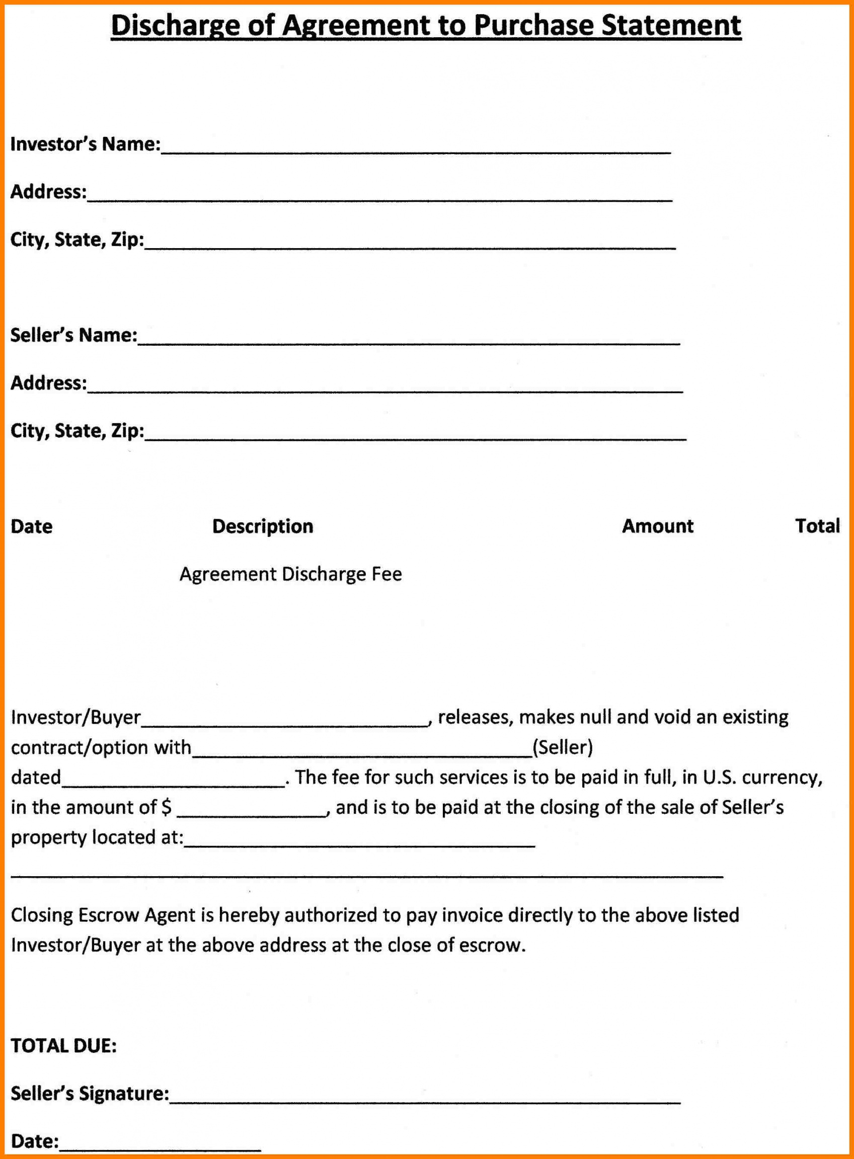 003 Free Purchase Agreement Template Sample Investor Resume Simple - Free Printable Real Estate Purchase Agreement