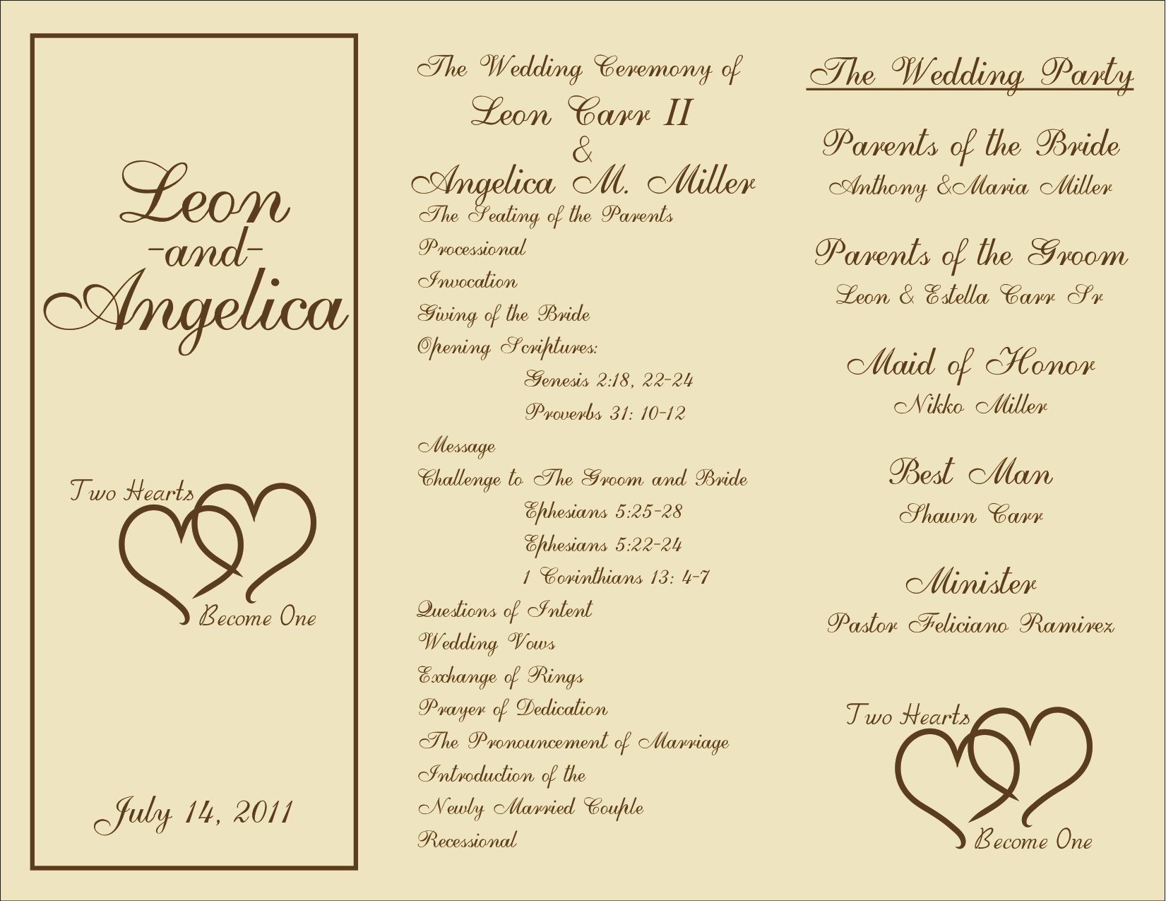 003 Wedding Program Free Template ~ Ulyssesroom - Free Printable Wedding Program Templates Word