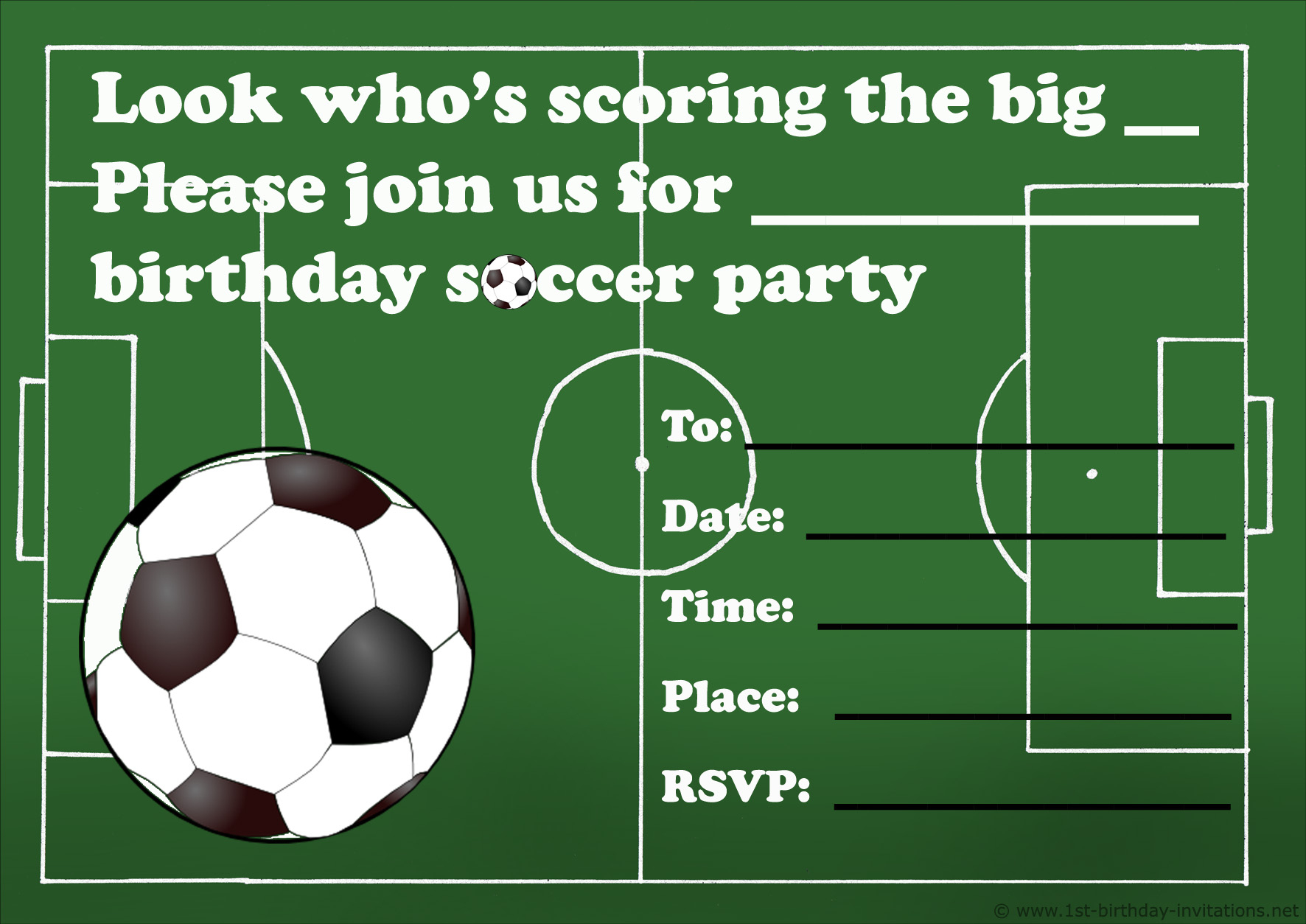 005 Template Ideas Football Party Invitations Templates Free Soccer - Free Printable Sports Birthday Invitation Templates