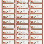 005 Template Ideas Free Printable Christmas Return Address Label   Free Printable Christmas Return Address Label Template