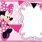 006 Template Ideas Minnie Mouse Birthday Invitation 1St Invitations   Free Printable Mickey Mouse Invitations