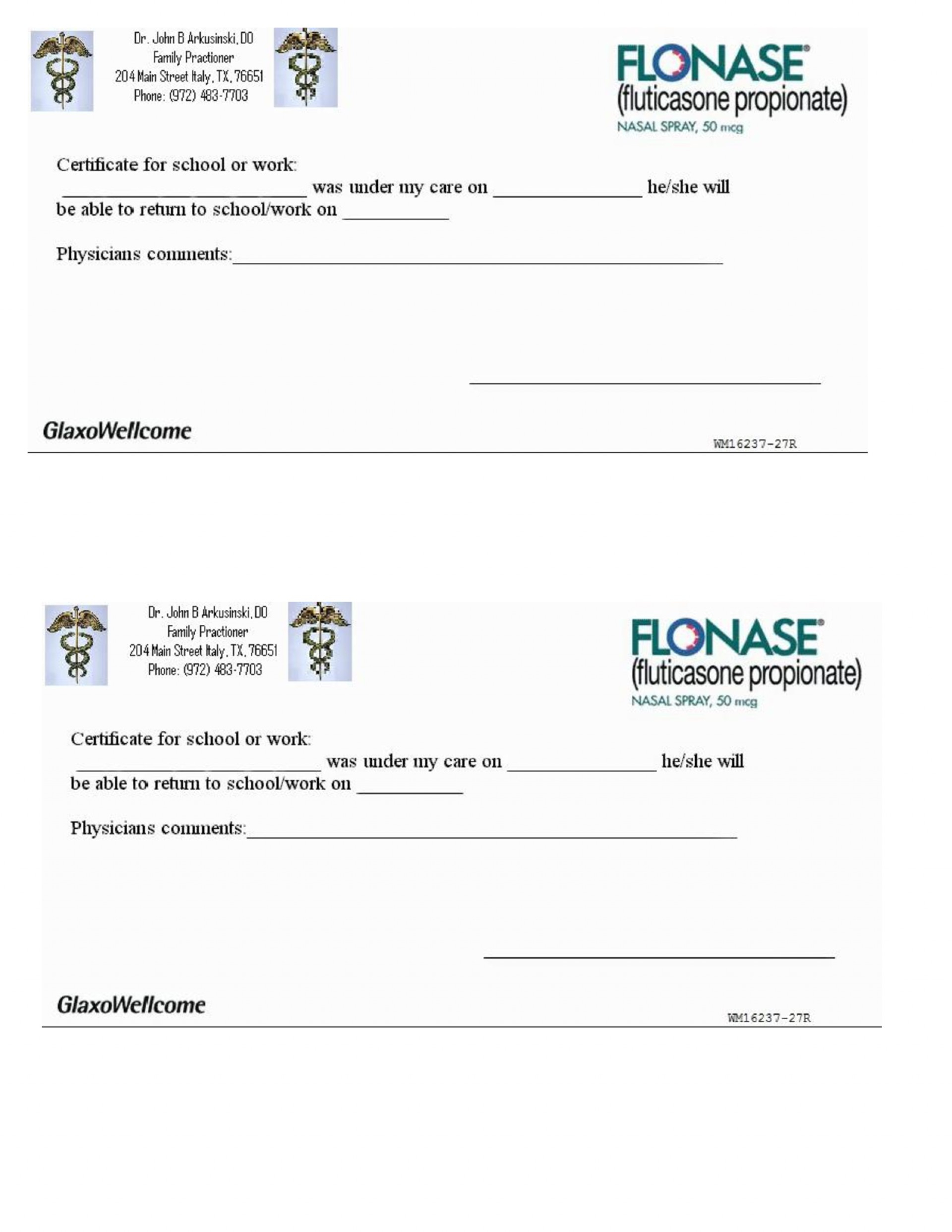 007 Free Printable Fake Doctors Note Template ~ Ulyssesroom - Free Printable Doctor Excuse Notes