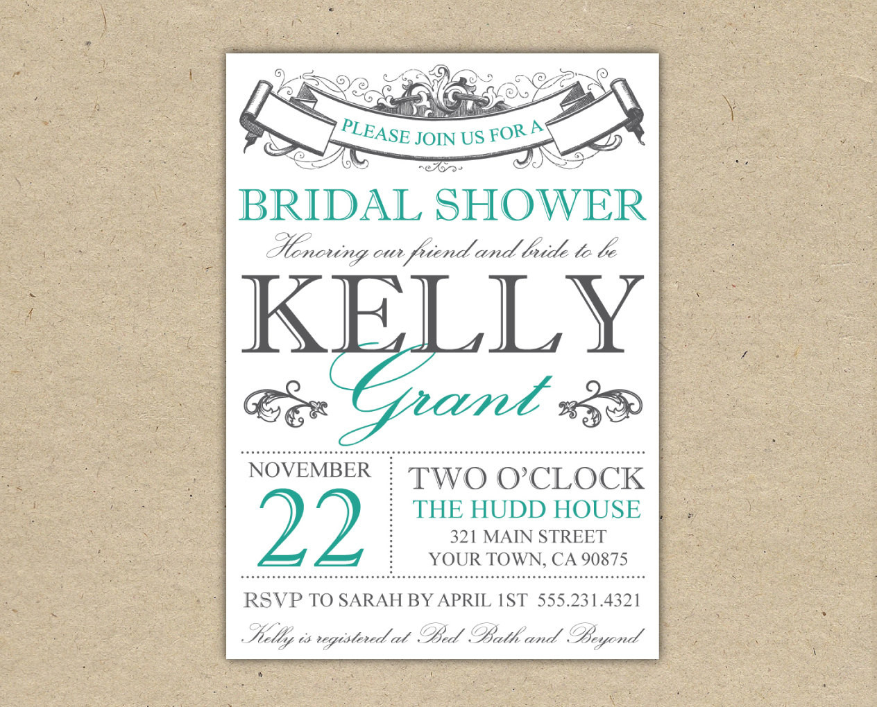 008 Free Printable Bridal Shower Invitations Templates Best - Free Printable Bridal Shower Invitations
