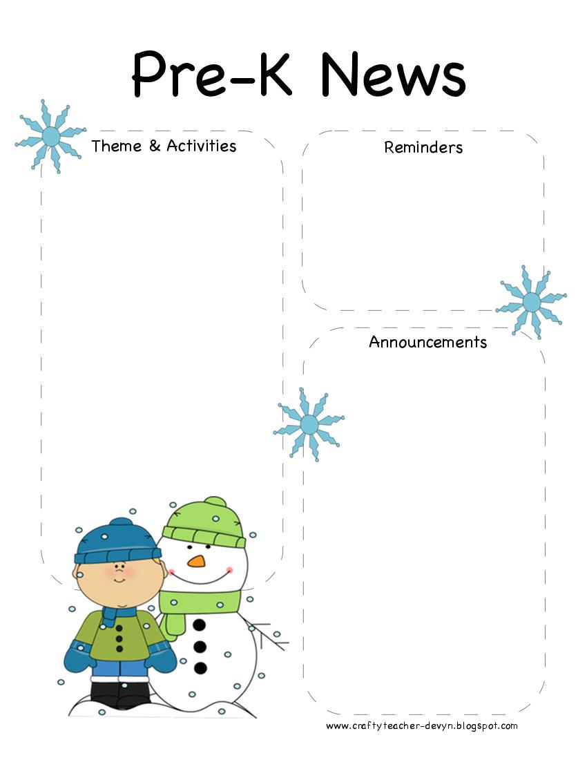 008 Template Ideas Pre K Newsletter ~ Ulyssesroom - Free Printable Preschool Newsletter Templates