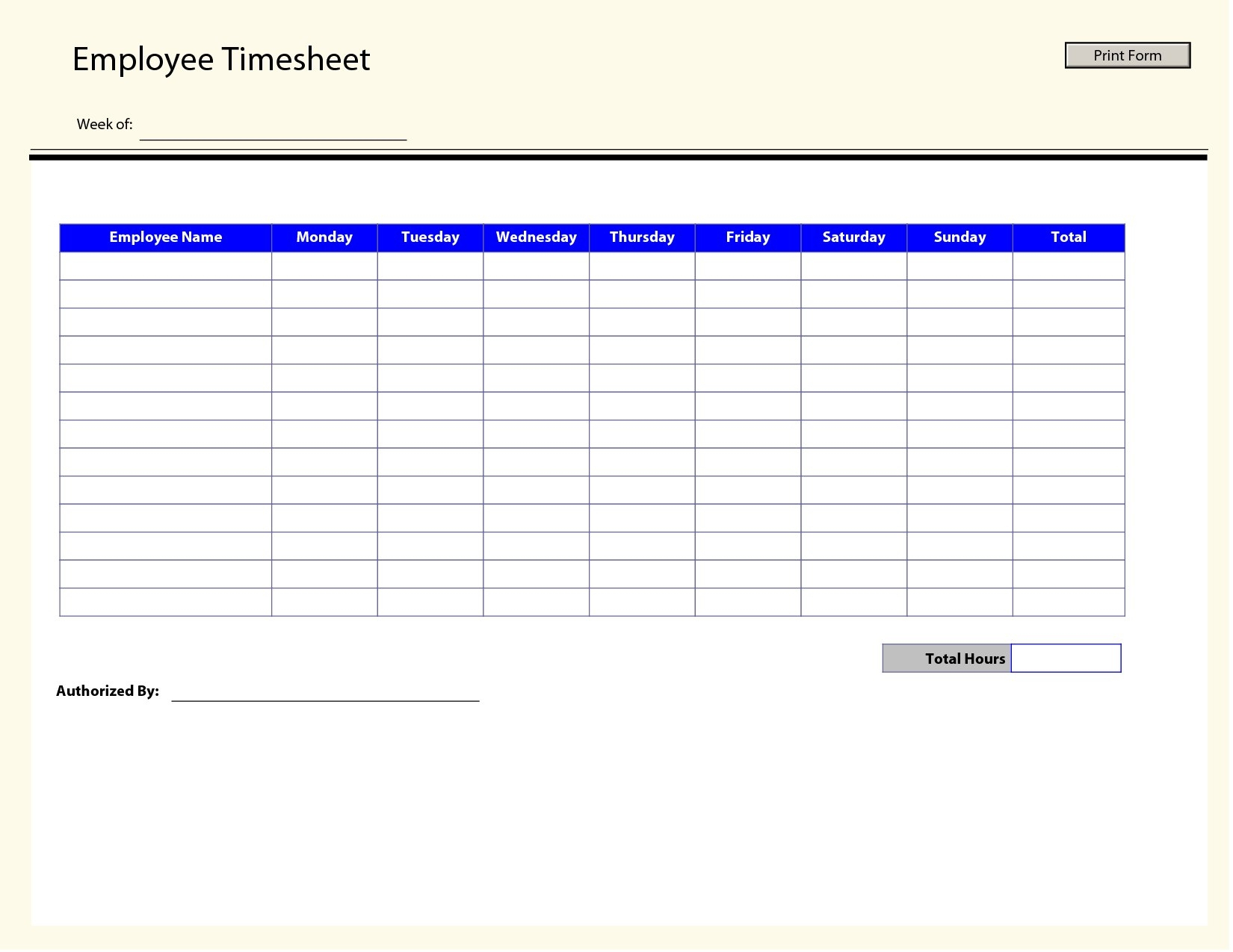 009 Free Printable Monthly Timesheet Template Time Sheets Employee - Monthly Timesheet Template Free Printable