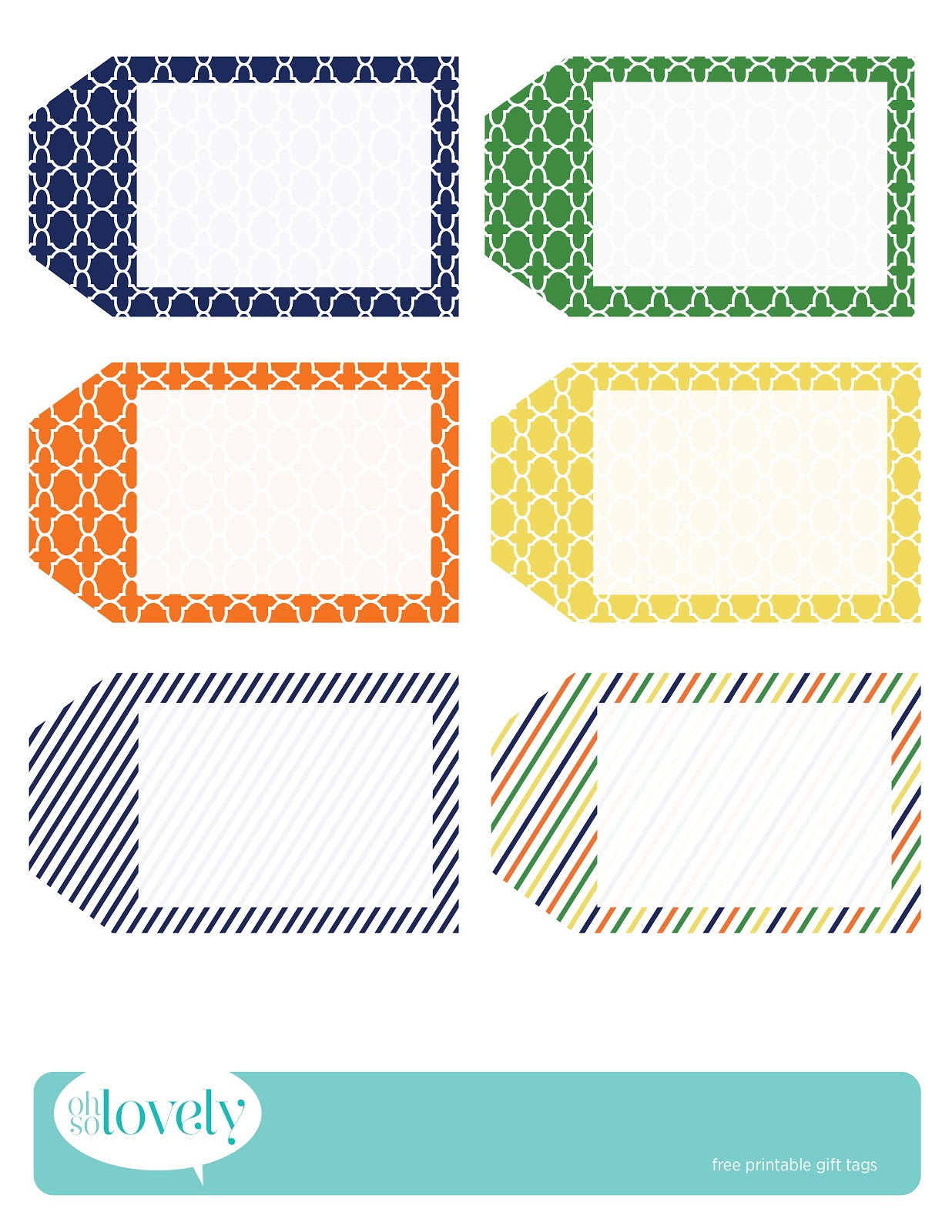 009 Oh So Lovely Free Gift Tags2 Template Ideas Printable Tag - Free Printable Favor Tags