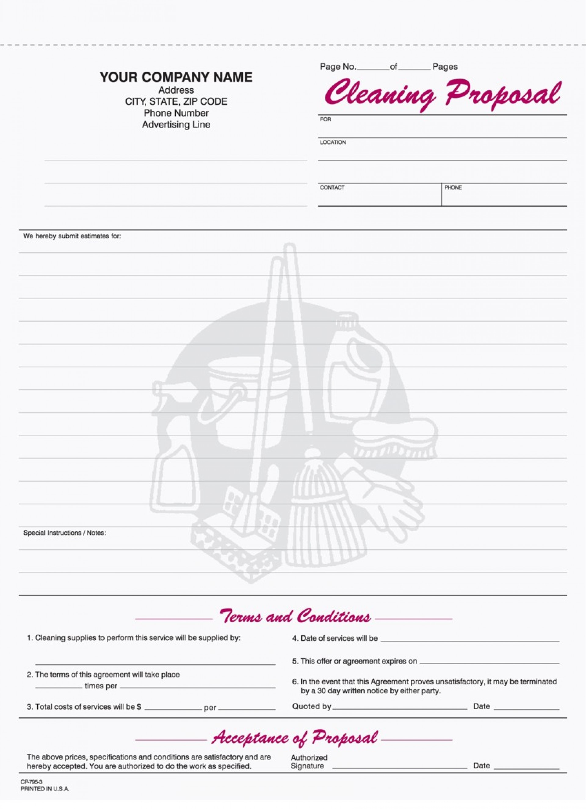 013 Bid Template Free Best Photos Of Printable Proposal Nurulamal - Free Printable Proposal Forms