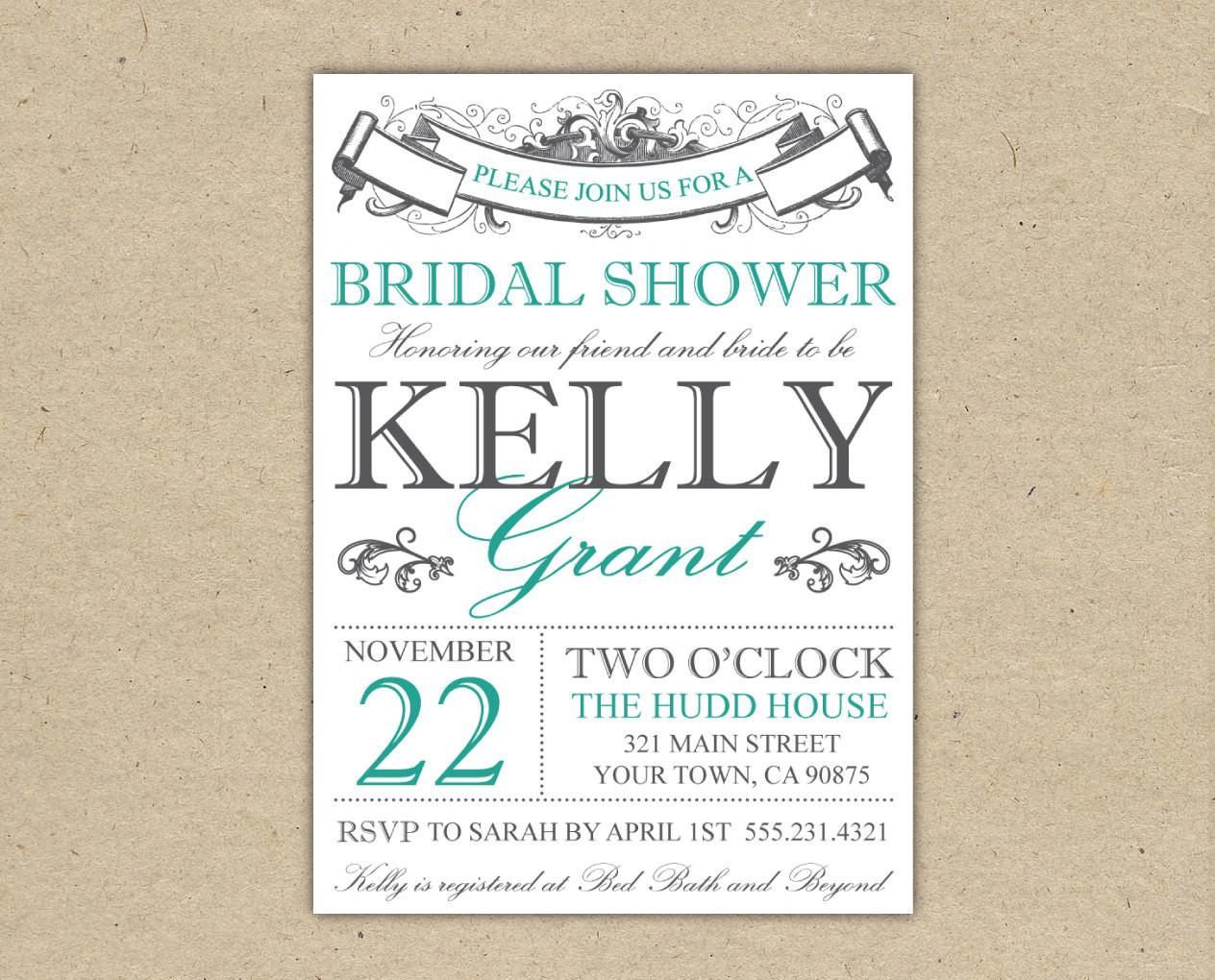 013 Free Bridal Shower Invitation Templates Printable Invitations - Free Printable Bridal Shower Invitations Templates