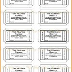 019 Free Printable Raffle Tickets P Template ~ Ulyssesroom   Free Printable Raffle Tickets
