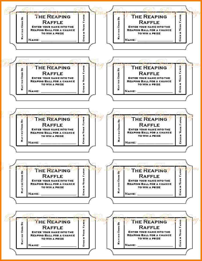 019 Free Printable Raffle Tickets P Template ~ Ulyssesroom - Free Printable Raffle Tickets