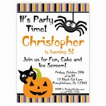 020 Free Halloween Invite Templates Template Ideas Birthday   Halloween Party Invitation Templates Free Printable