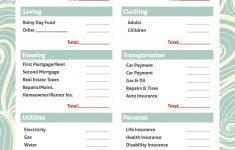 021 Free Printable Budget Templates Template Ideas Worksheets For – Free Printable Budget Worksheets