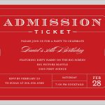 025 Free Printable Event Tickets Template Admission Ticket Download   Free Printable Admission Ticket Template