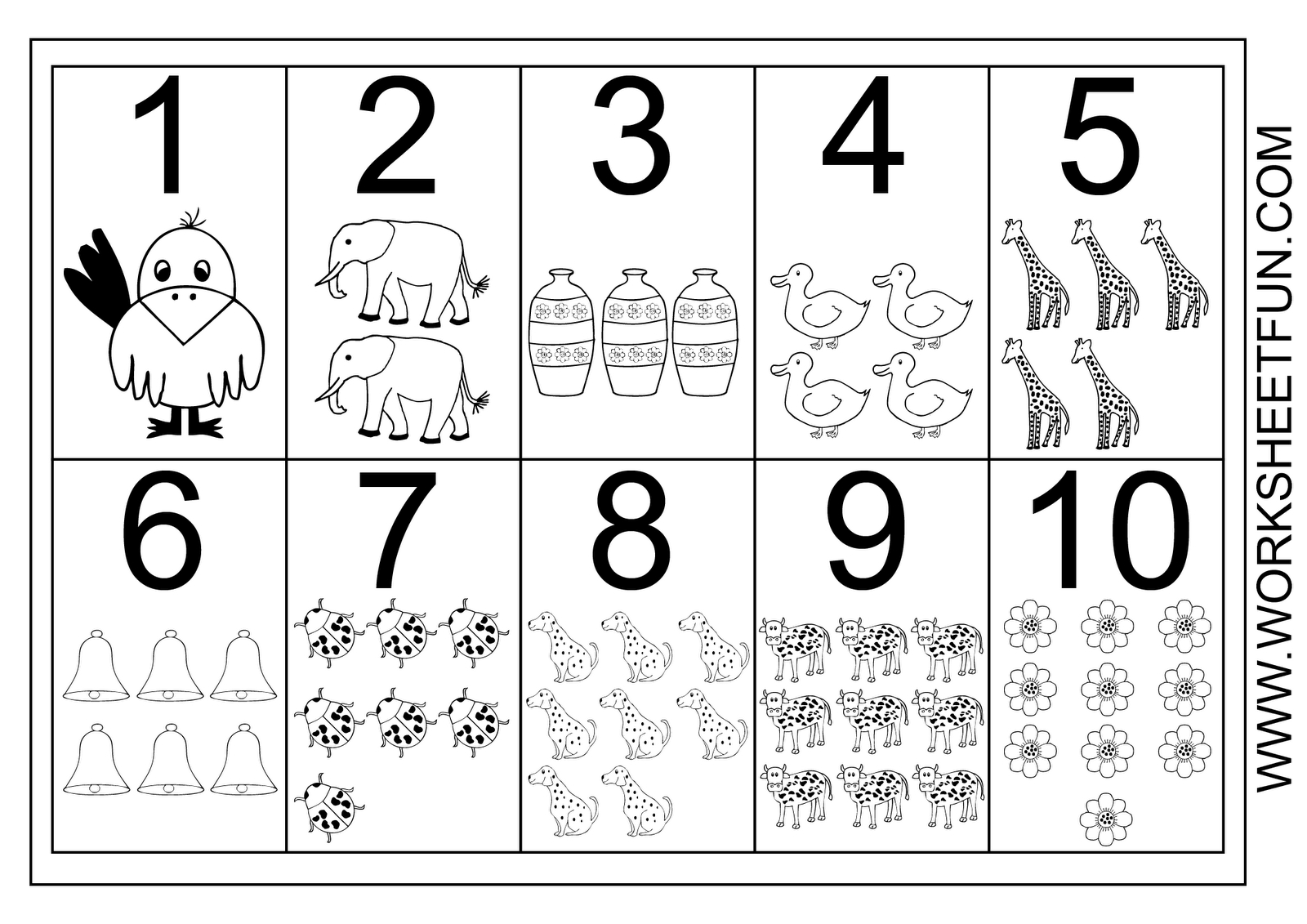 1-10 Worksheets | Numbers 1 10 Printable Worksheet | Teacher - Free Printable Number Chart 1 10