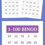 1 100 Bingo | Party Games   Free Printable Bingo Cards 1 100