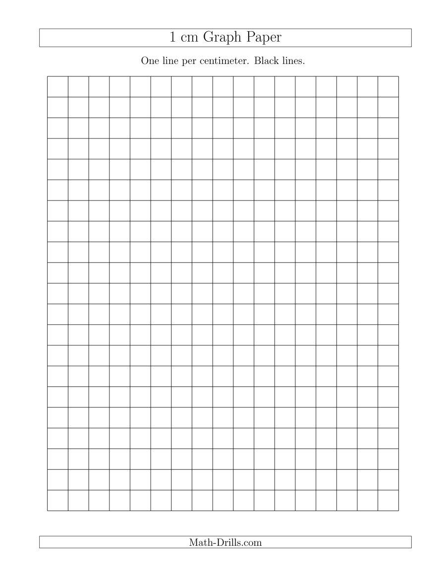 1 Cm Graph Paper With Black Lines (A) - Cm Graph Paper Free Printable