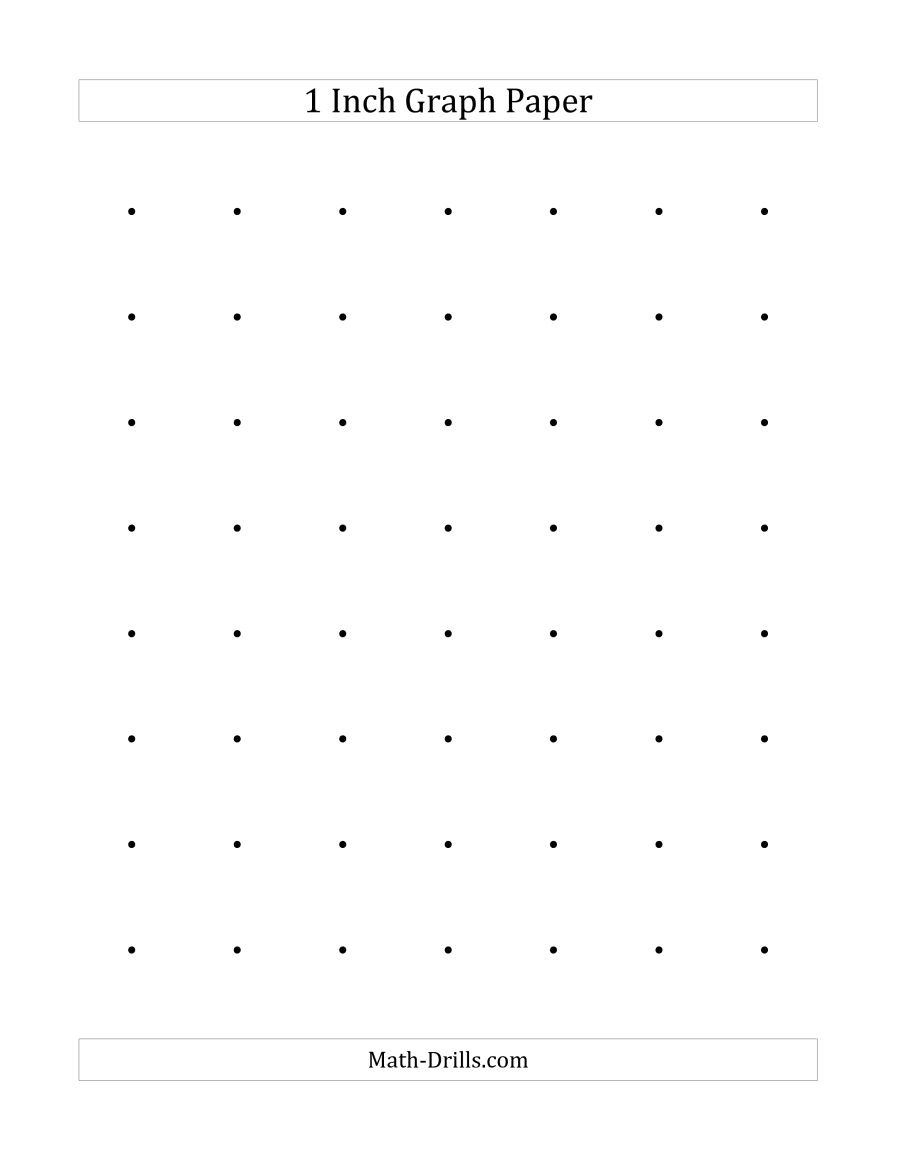 1 Inch Dot Paper (A) - Free Printable Square Dot Paper