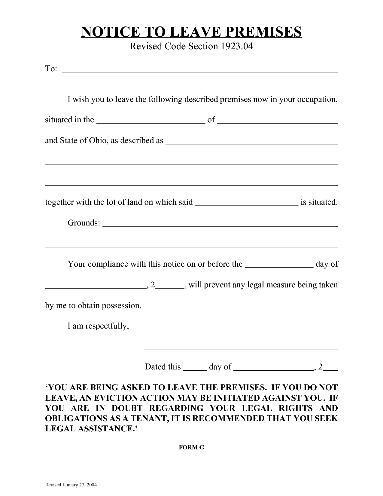 10 Best Images Of Eviction Notice Florida Form Blank Template Via 3 - Free Printable Eviction Notice Ohio