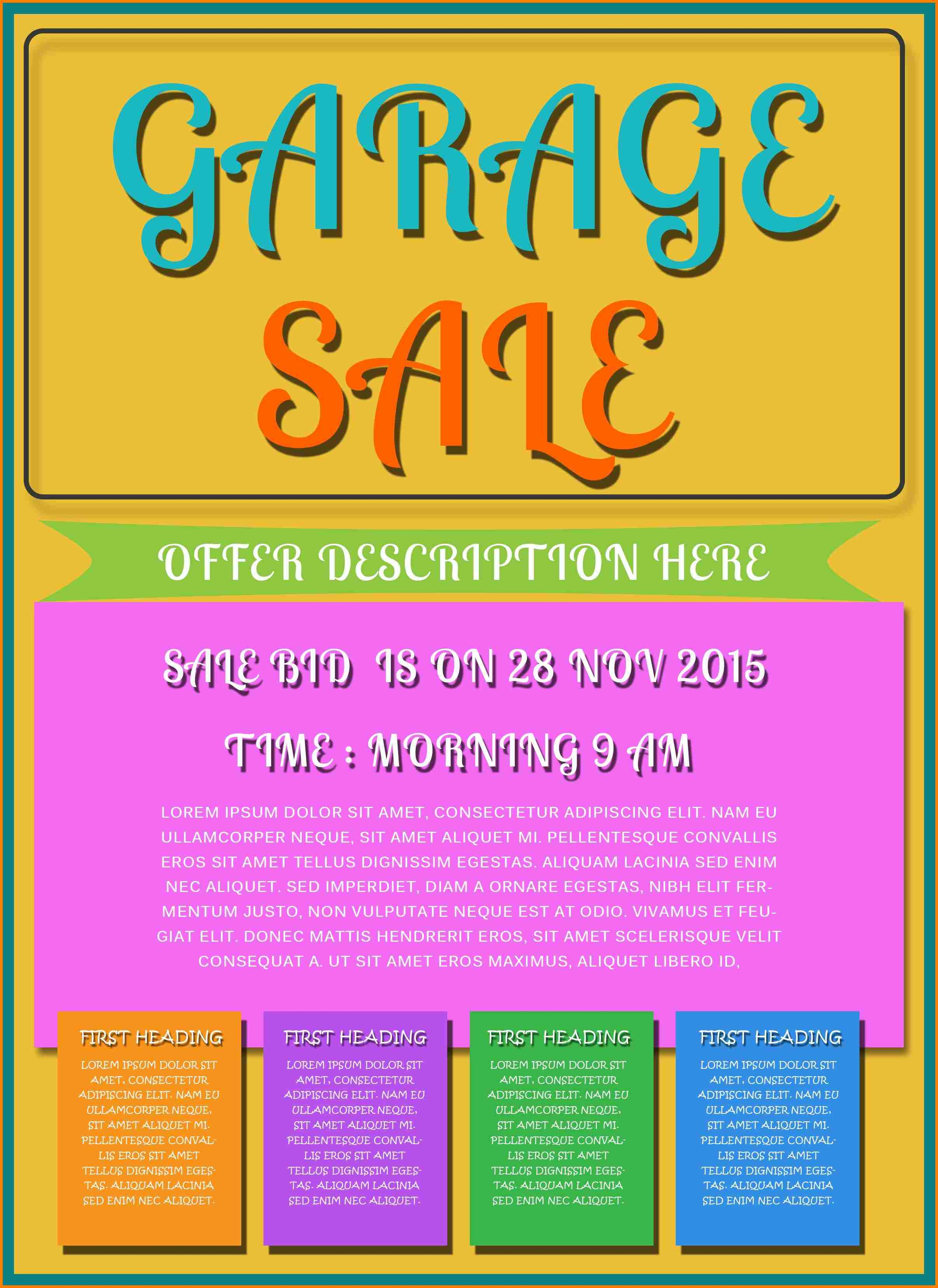 10+ Garage Sale Flyer Template Free | Quick Askips - Free Printable Flyer Templates
