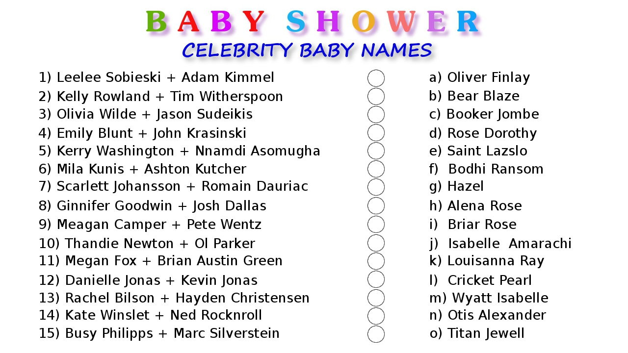 10 Printable Baby Shower Games Your Guests Will Surely Enjoy - Free Printable Baby Shower Games With Answer Key
