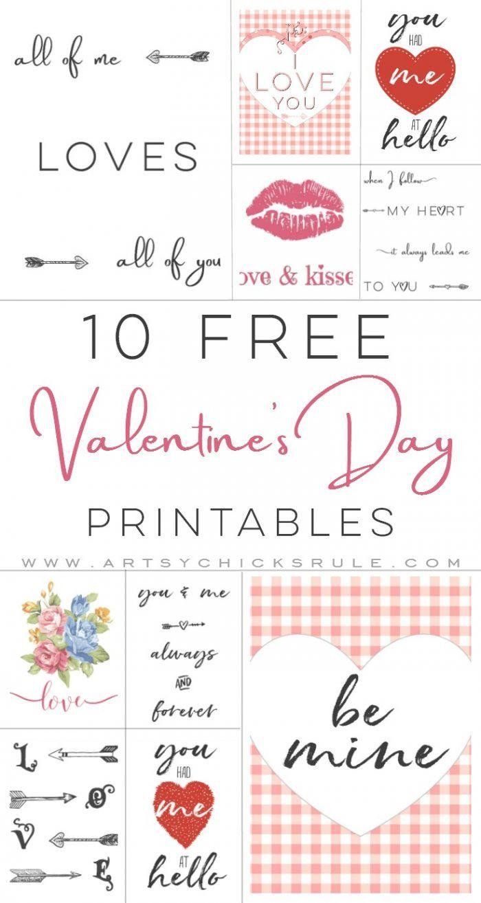 10 Valentine's Printables | Valentine Inspiration | Pinterest - Free Printable Valentine's Day Stencils