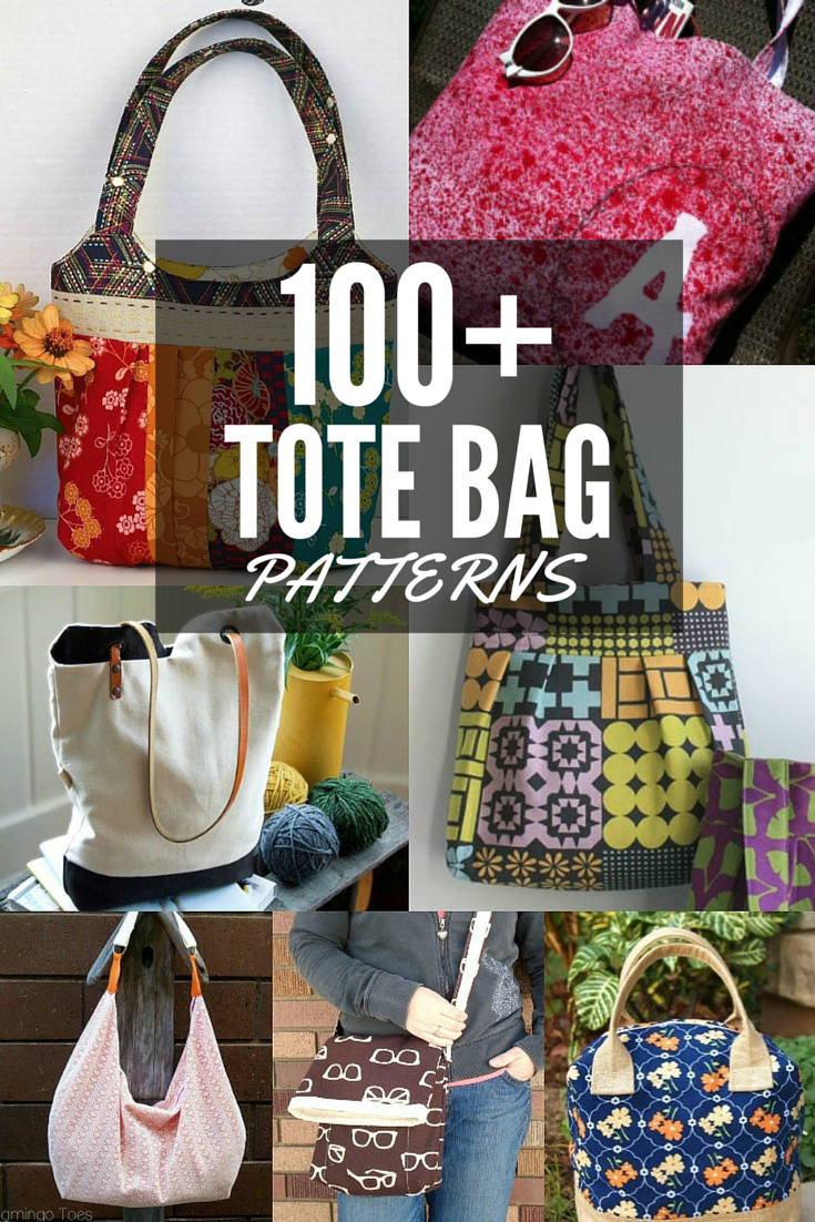 100+ Free Tote Bag Patterns   Round Up - The Sewing Loft - Handbag Patterns Free Printable