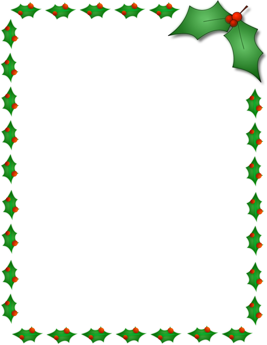 11 Free Christmas Border Designs Images - Holiday Clip Art Borders - Free Printable Christmas Borders