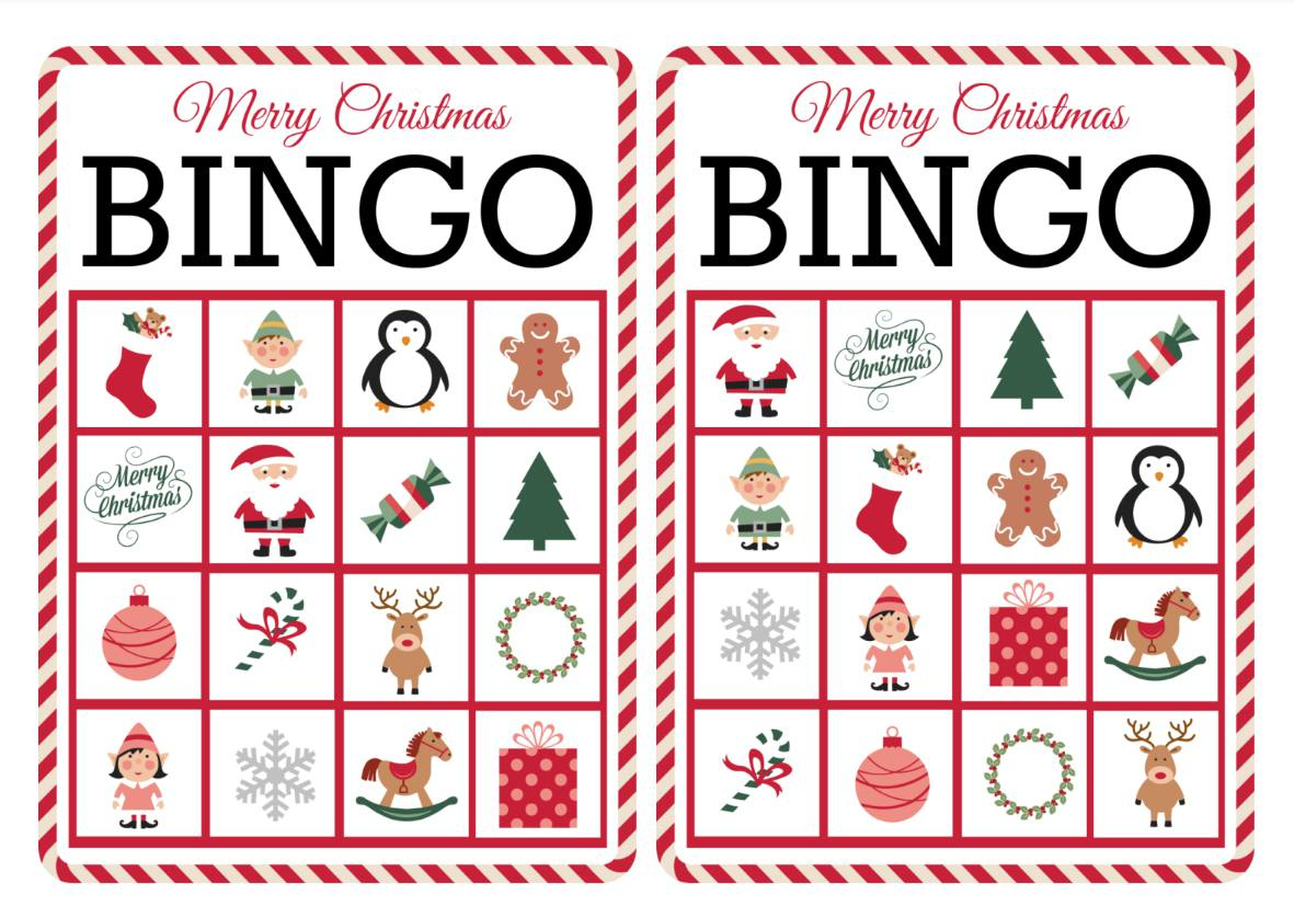 11 Free, Printable Christmas Bingo Games For The Family - Free Printable Bingo Cards 1 100