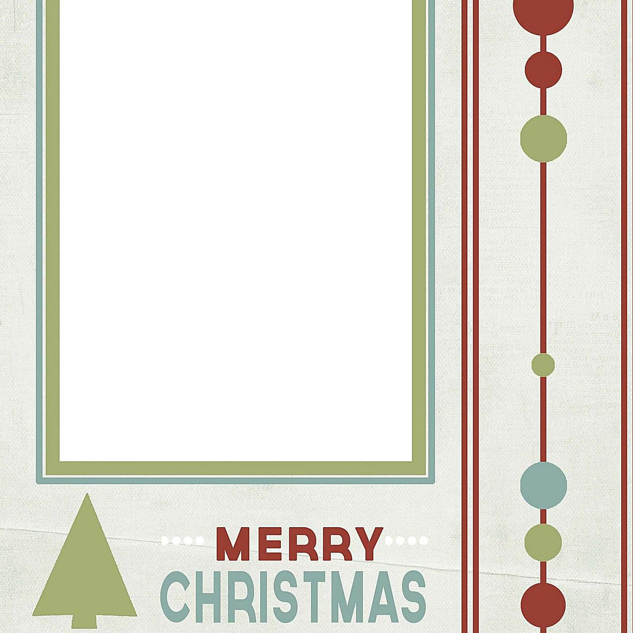 11 Free Templates For Christmas Photo Cards - Free Printable Christmas Cards With Photo Insert