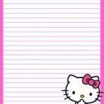 12 Best Photos Of Hello Kitty Printable Stationery Paper   Free   Free Printable Hello Kitty Stationery