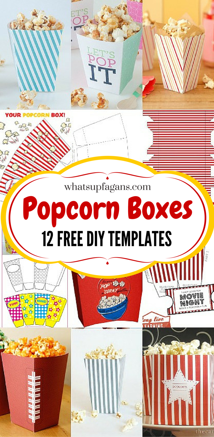 12 Free Diy Popcorn Box Printables For A Better Family Movie Night - Free Printable Christmas Money Holders