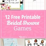 12 Free Printable Bridal Shower Games   Party Time   Pinterest   Free Printable Bridal Shower Blank Bingo Games