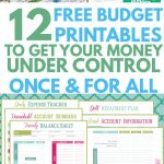 12 Free Printable Budget Worksheets To Get Control Of Your Money   Free Printable Home Organizer Notebook