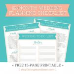 12 Month Wedding Planning Checklist   Free Timeline Printable Pdf   Free Printable Wedding Planner Book Pdf