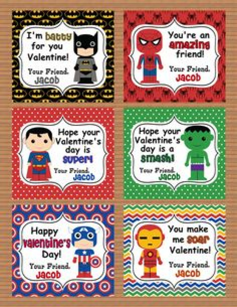 136 Best Valentine's Day Images On Pinterest   Valentine Treats With - Free Printable Superman Valentine Cards