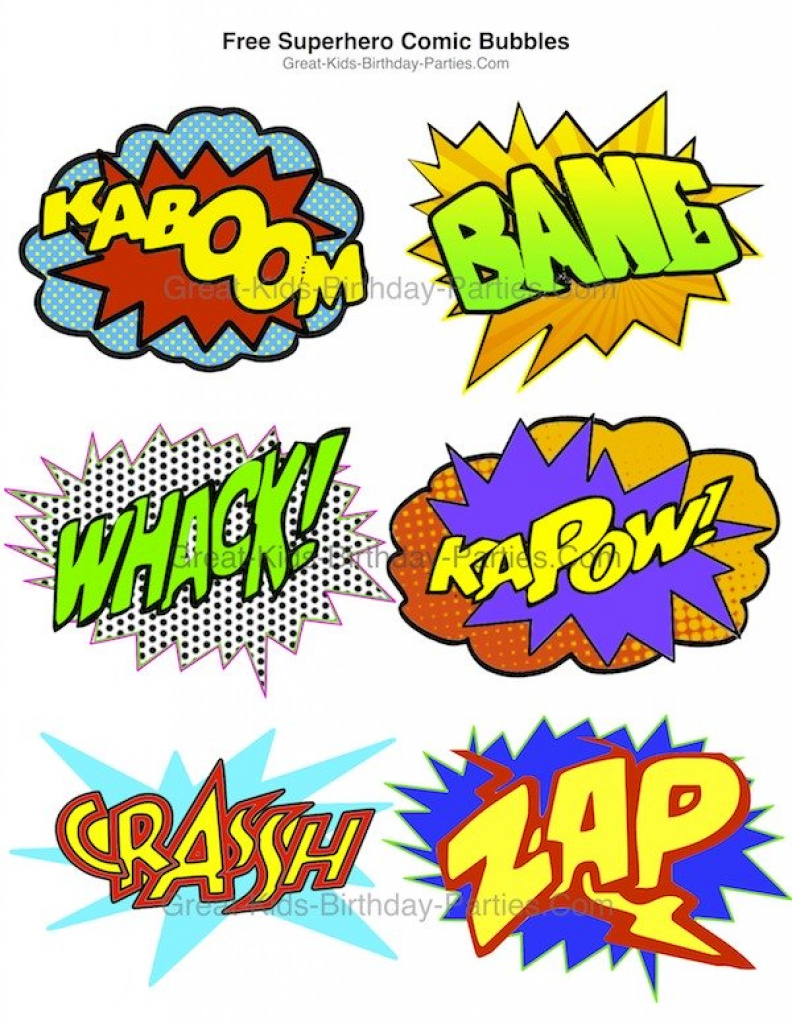 14 Images Of Superhero Party Free Printable Template | Geldfritz In - Free Printable Superhero Words