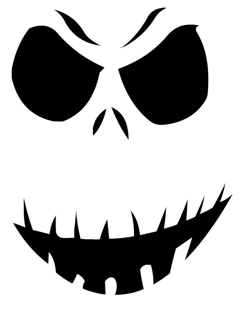 14 Unique Jack Skellington Pumpkin Stencil Patterns | Guide Patterns - Free Printable Pumpkin Faces