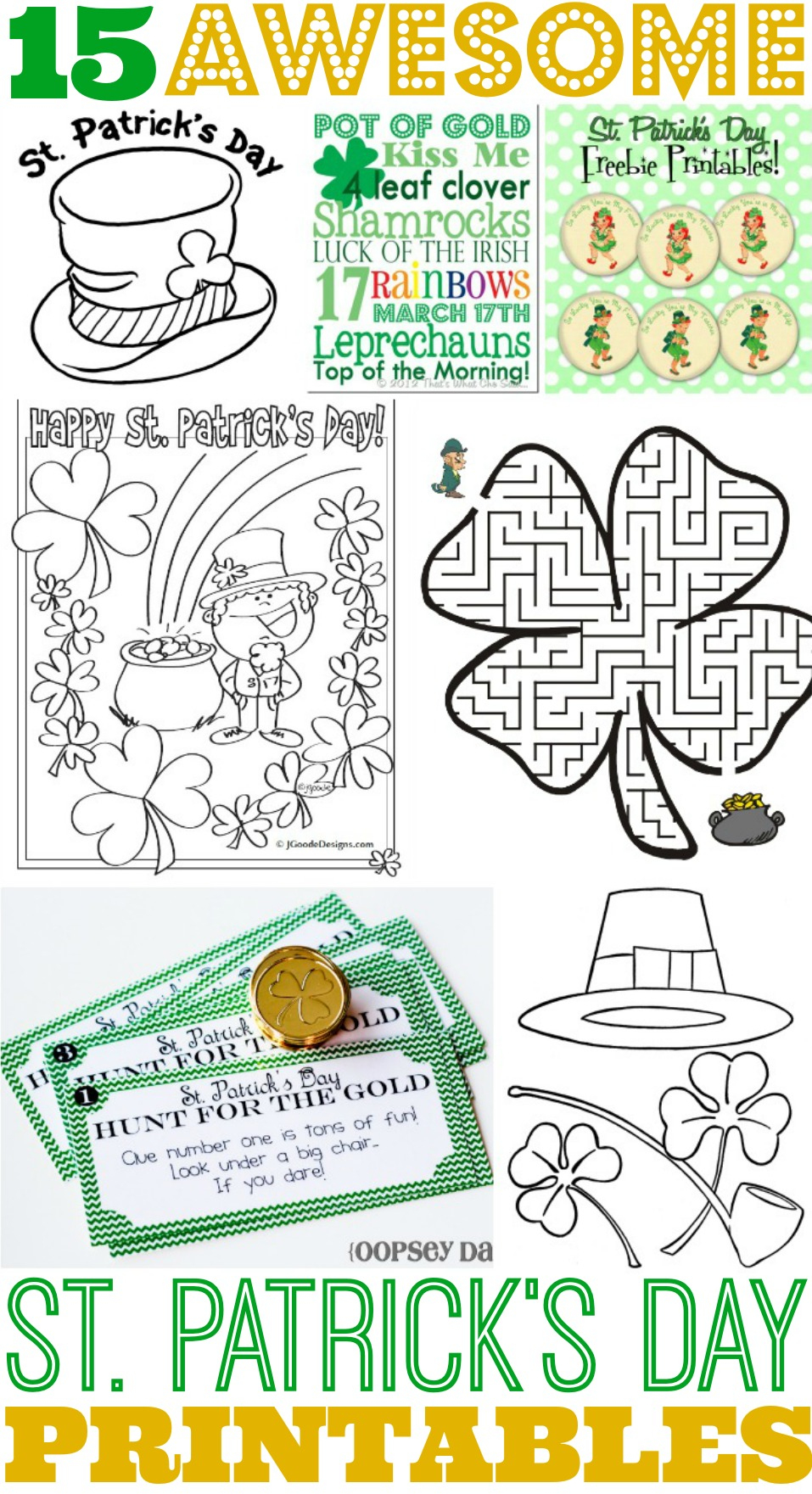 15 Awesome St. Patrick's Day Free Printables For Kids - Free Printable March Activities