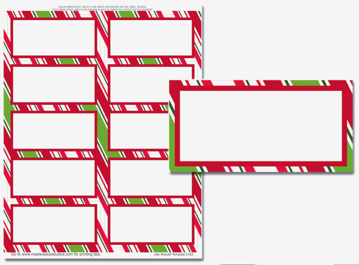 15 Best Images Of Printable Christmas Labels Avery Free Address - Christmas Labels Free Printable Templates