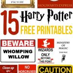 15 Free Harry Potter Party Printables   Part 1 | Maddison's 11Th   Free Harry Potter Printable Signs