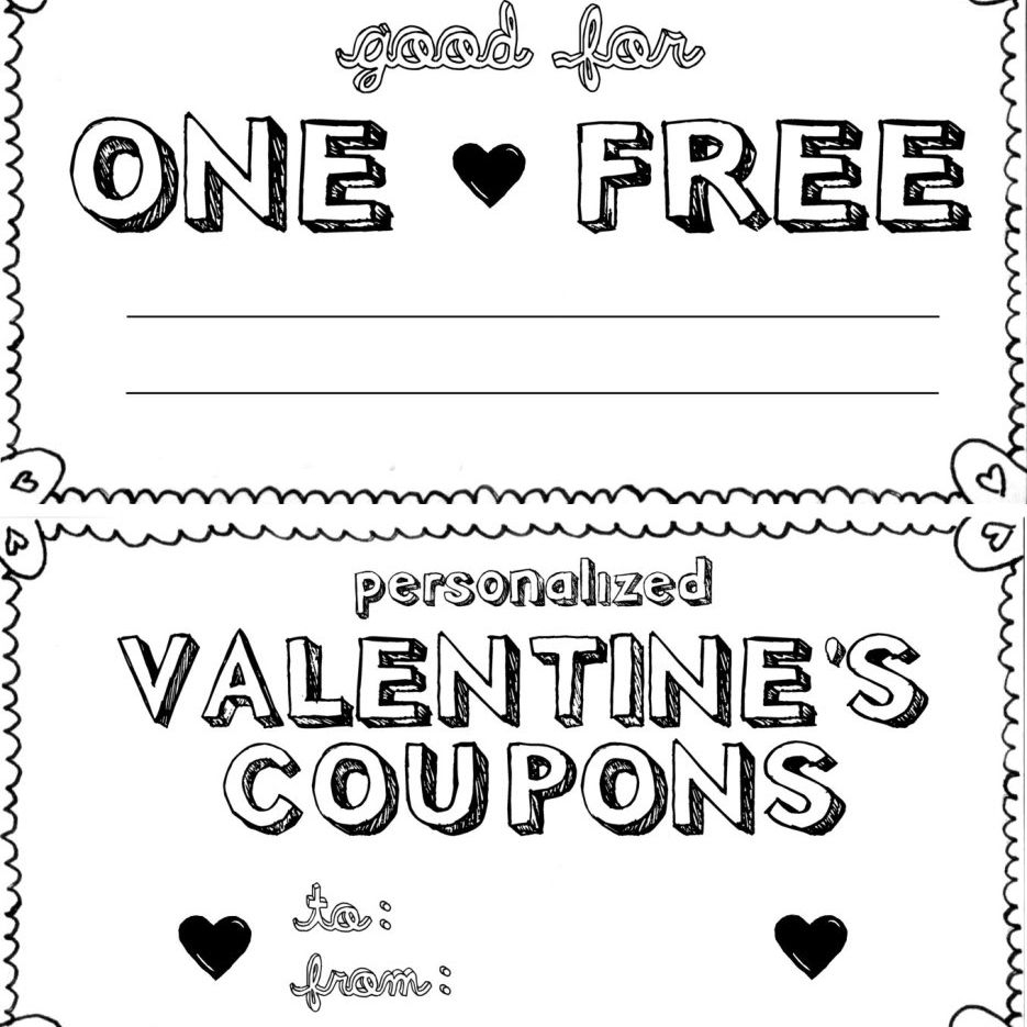 15 Sets Of Free Printable Love Coupons And Templates - Free Printable Homemade Coupon Book