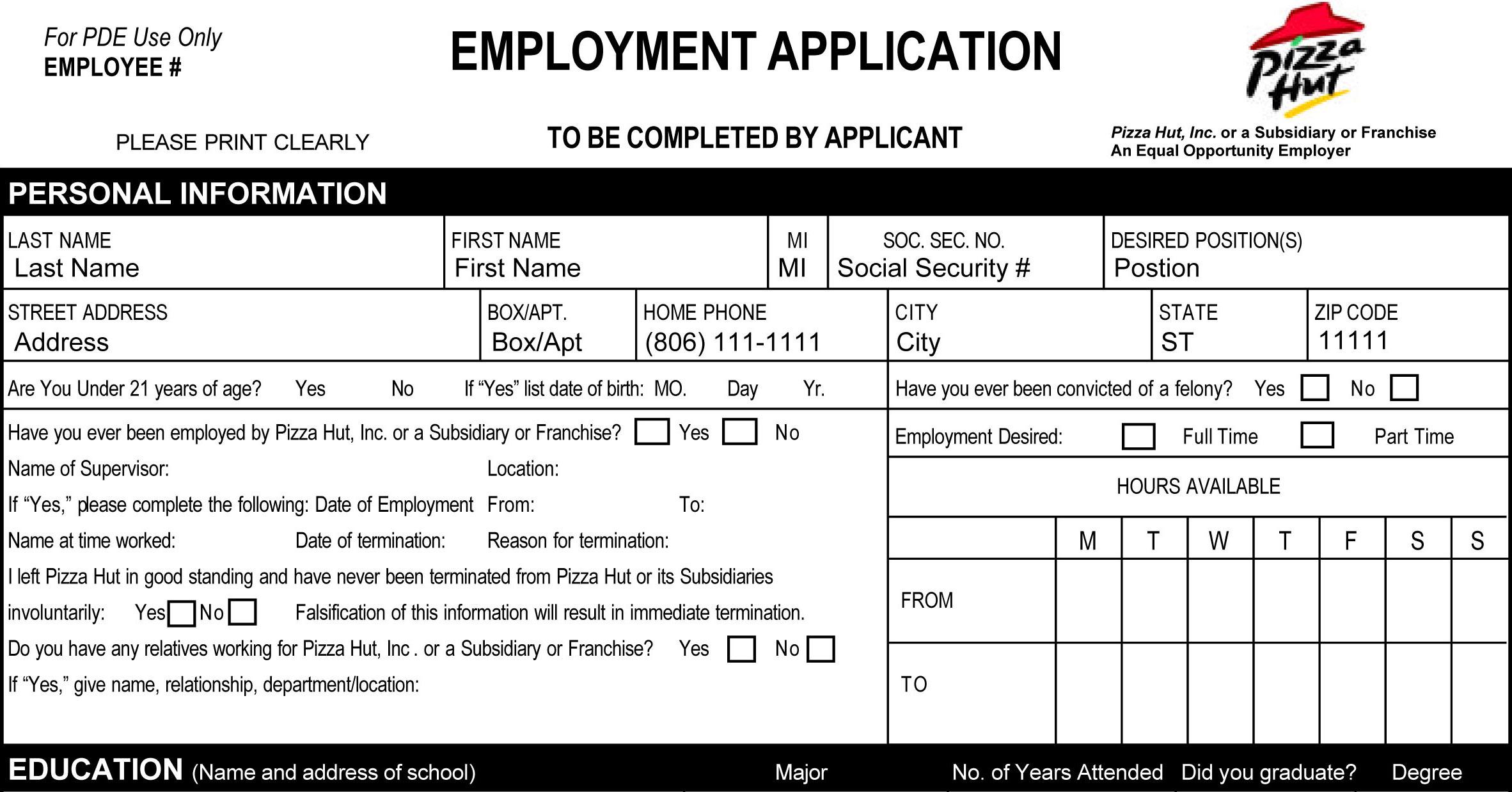 16+ Printable Job Applications | Zasvobodu - Free Printable Job Application Form Pdf