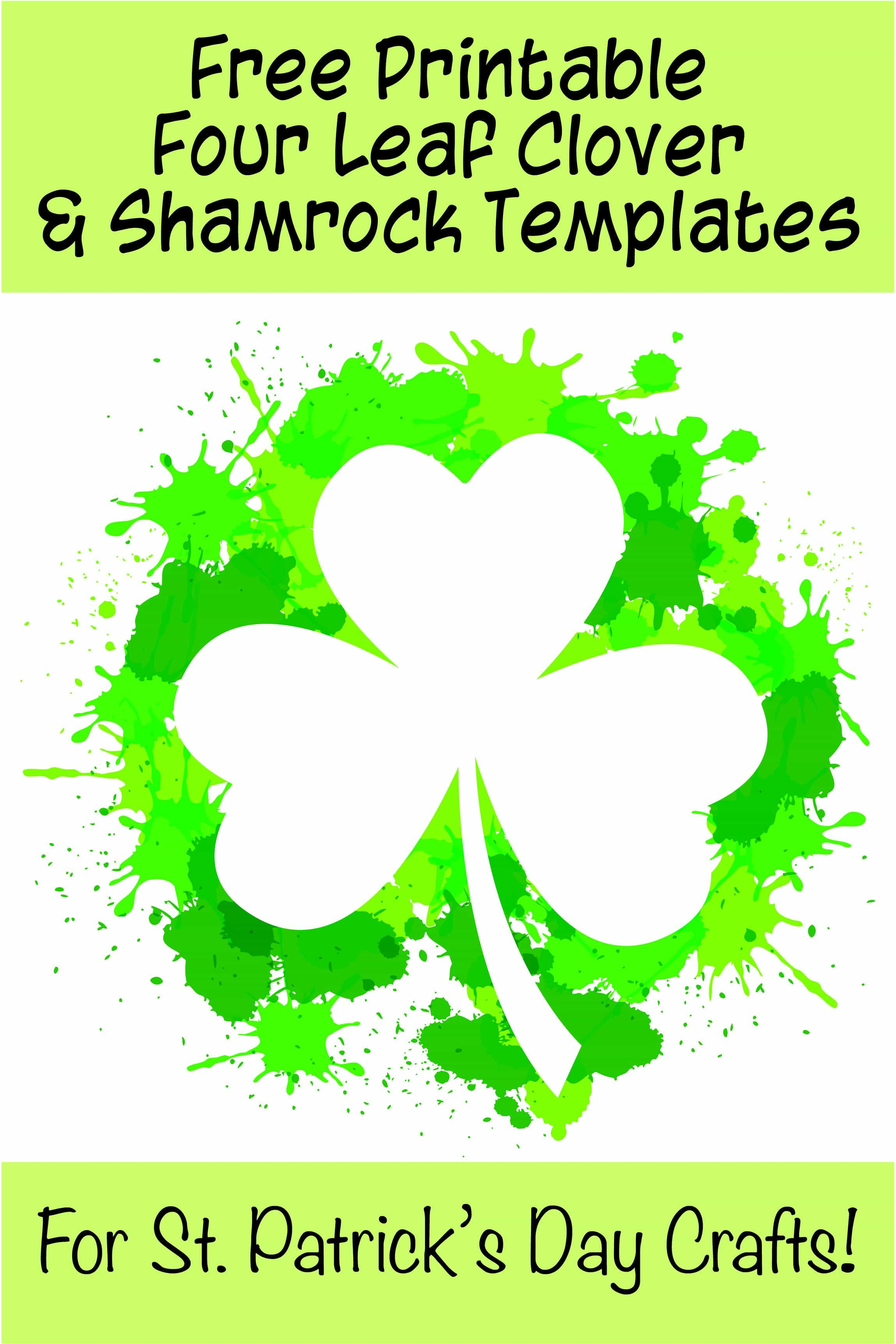 17+ Free Printable Four Leaf Clover & Shamrock Templates - The - Free Printable Shamrocks