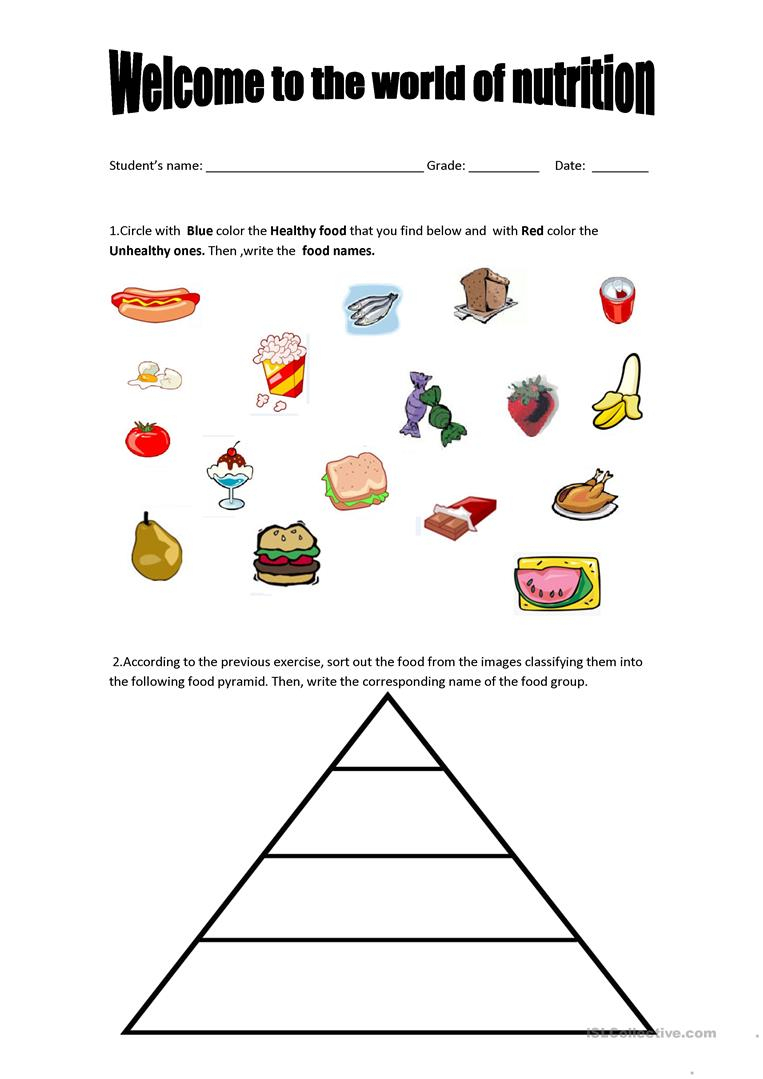 18 Free Esl Food Pyramid Worksheets - Free Printable Food Pyramid