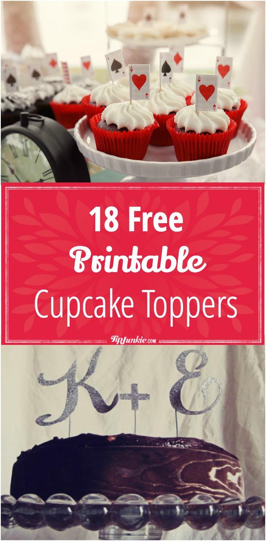 18 Free Printable Cupcake Toppers – Tip Junkie - Baptism Cupcake Toppers Printable Free