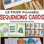 18 Free Printable Sequencing Cards For Preschoolers   Free Printable Sequencing Worksheets For Kindergarten