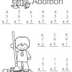 1St Grade Math And Literacy Worksheets With A Freebie!   Planning   Free Printable Fall Math Worksheets